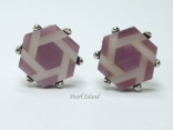 Cufflinks - Hexagon Purple Cufflinks