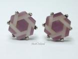 Cufflinks - Hexagon Purple Cufflinks