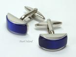 Cufflinks - Cats Eye Blue Cufflinks