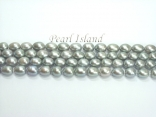 Silver Grey Oval Pearl Strand 8-9mm (Loose Pearls)